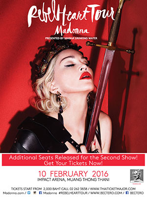 Madonna Rebel Heart Tour Bangkok presented by Singha Drinking Water