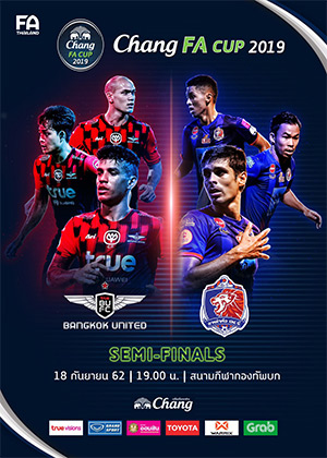CHANG FA CUP 2019 Semi - Final<br>(Royal Thai Army Stadium)<br>True Bangkok United vs. Port FC