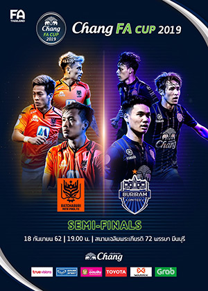 CHANG FA CUP 2019 Semi - Final (Chalermprakiat 72 Pansa Stadium Minburi)<br>Ratchaburi Mitr Phol FC vs. Buriram United