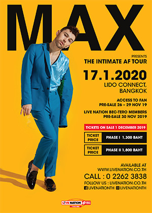MAX THE INTIMATE AF TOUR