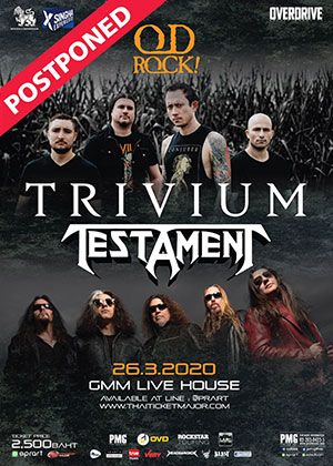 Trivium and Testament live in Bangkok
