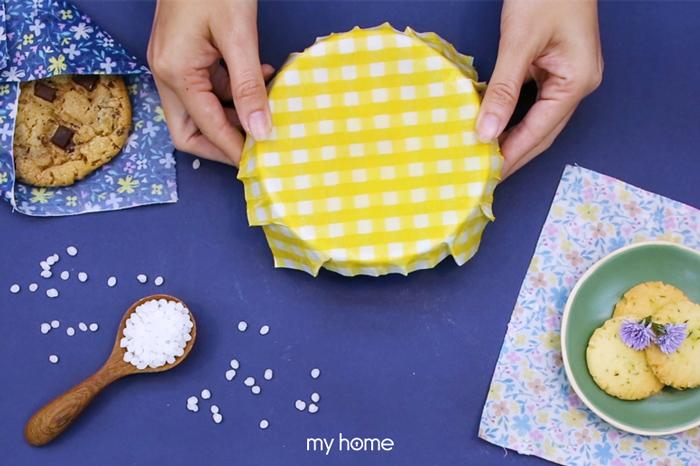 ผ้าคลุมอาหารจากไขขี้ผึ้ง