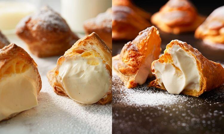 ไส้ทะลักต้องลอง! 'Milk Cheese Pie' พายกรอบสอดไส้ชีสครีมเนื้อนุ่ม