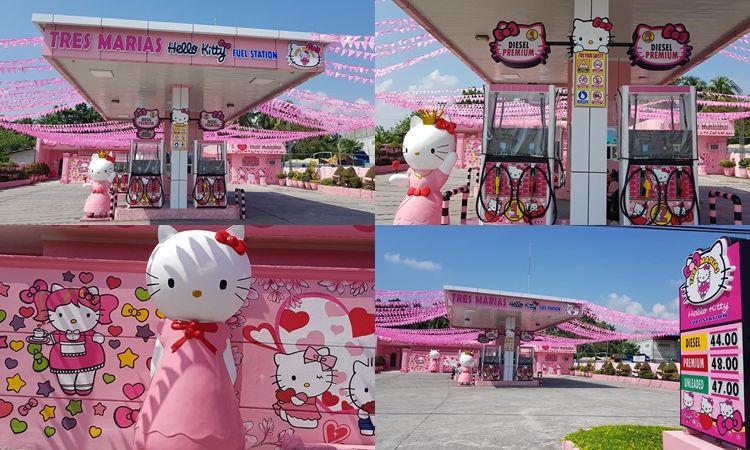 สาวกต้องไป! ปั๊มนี้คิตตี้ครอง Tres Marias Hello Kitty Fuel Station