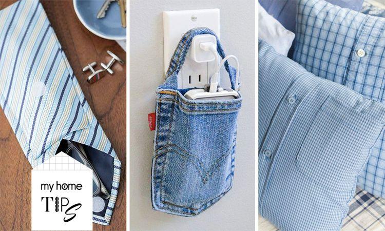 ไอเดียการดัดแปลงชิ้นส่วนเสื้อผ้าตัวเก่า ให้เป็นของใช้ชิ้นใหม่