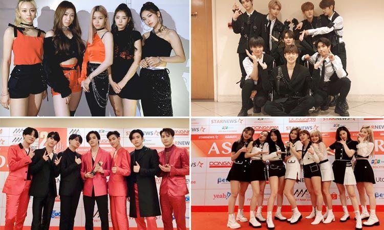 ชมภาพ ITZY, GOT7, TWICE, Stray Kids รับรางวัลในงาน 2019 Asia Artist Awards