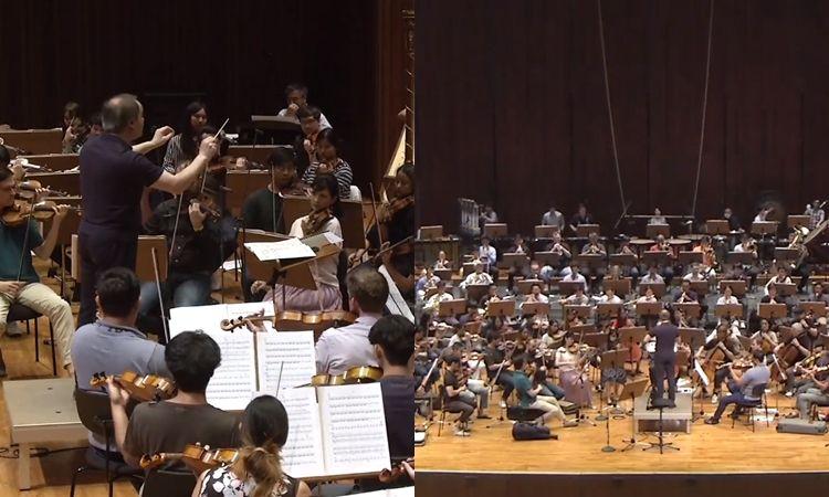 ชมบรรยากาศการซ้อม บทกวีอันหวาบหวาม ของวง Thailand Philharmonic Orchestra