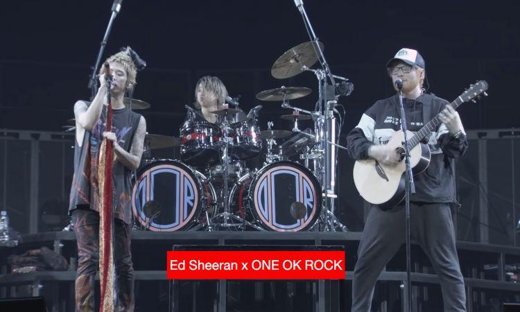 """ของโคตรดี! Ed Sheeran เซอร์ไพรส์แจม ONE OK ROCK โชว์เพลงฮิต """"Shape of You"""""""
