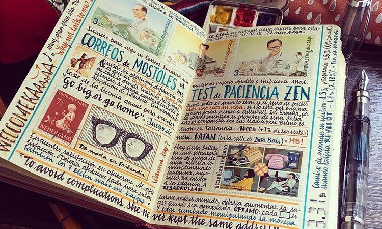 หนุ่มสเปนสุดเจ๋ง! บันทึกการเดินทางผ่านงานศิลปะ ในไดอารี่