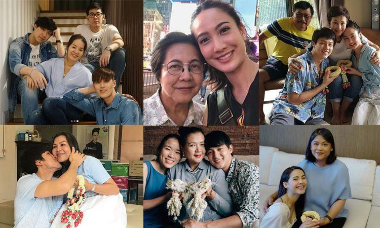 เก็บตกภาพครอบครัวอบอุ่นของเหล่าซุปตาร์ ในวันแม่แห่งชาติ 2561