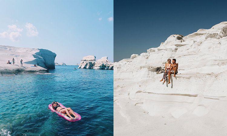 เที่ยวกรีซ ชมความสวยงามของ Sarakiniko Beach