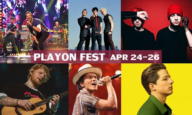 ชมคอนเสิร์ตสุดประทับใจของ Coldplay, Bruno Mars และศิลปินดังอีกเพียบใน PlayOn Fest