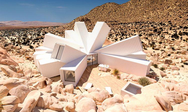 พาไปชม Joshua Tree Residence บ้านดาวกระจายสีขาวกลางทะเลทราย ดีไซน์สะดุดตา