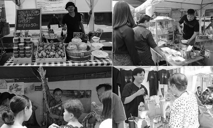 ตลาดนัดดารา วิก 3 ร่วมรำลึกถึงในหลวง รัชกาลที่ 9 คำสอนพ่อ สานต่อทำกิน ภายในงานอัดแน่นด้วยร้านค้า และประชาชน
