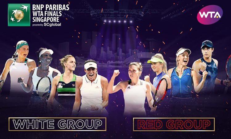 WTA Finals จับฉลากแบ่งกลุ่มเรียบร้อย พร้อมประเดิมสนามหวดวันอาทิตย์นี้