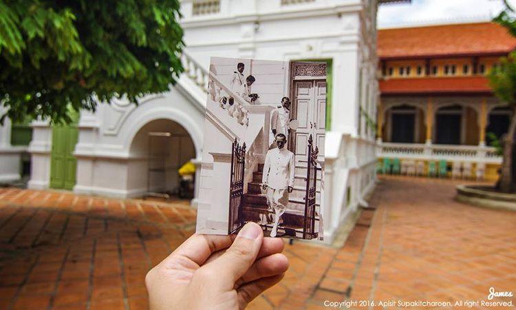 """ภาพถ่ายชุด """"ที่ที่พ่อไป"""" ตามรอยเสด็จฯ ด้วยเทคนิค Dear Photograph"""