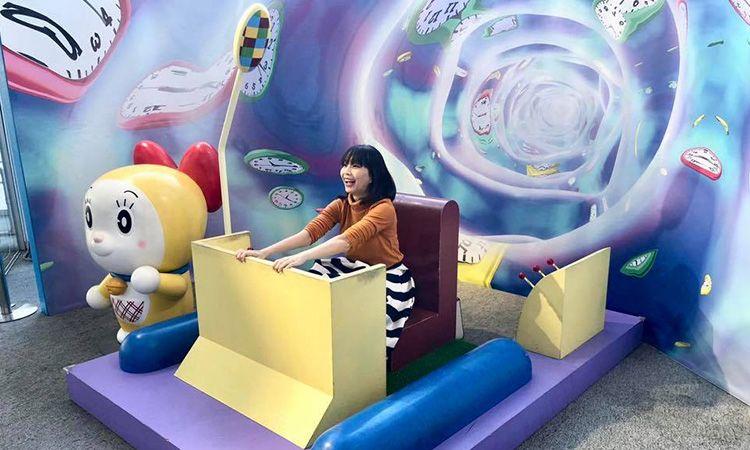 แวะทักทายครอบครัวชินจัง พร้อมนั่งไทม์แมชชีนไปกับโดราเอมอน ที่สำนักงานใหญ่ TV Asahi