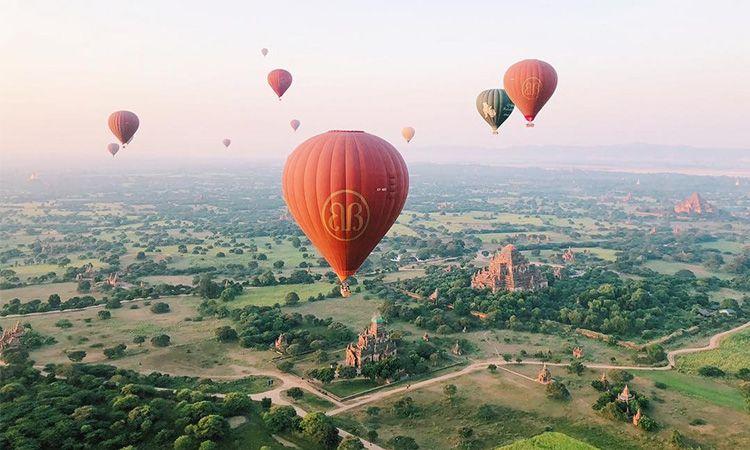 """ขึ้นบอลลูน ชมเมือง """"พุกาม"""" ดินแดนแห่งเจดีย์สี่พันองค์ ประเทศพม่า"""