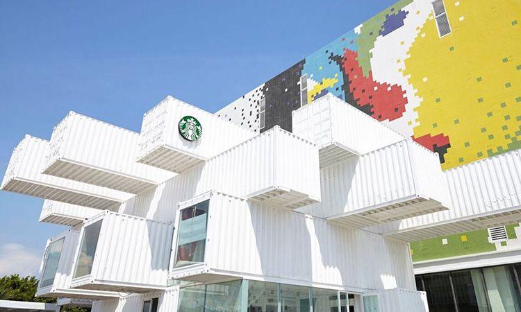 สวยพี่สวย! Starbucks สาขาใหม่ในไต้หวัน สร้างจากตู้คอนเทนเนอร์