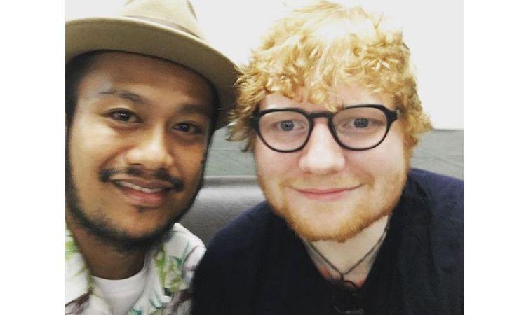 สิงโต นำโชค โพสภาพคู่ Ed Sheeran ในคอนเสิร์ต Ed Sheeran Live in Bangkok 2017
