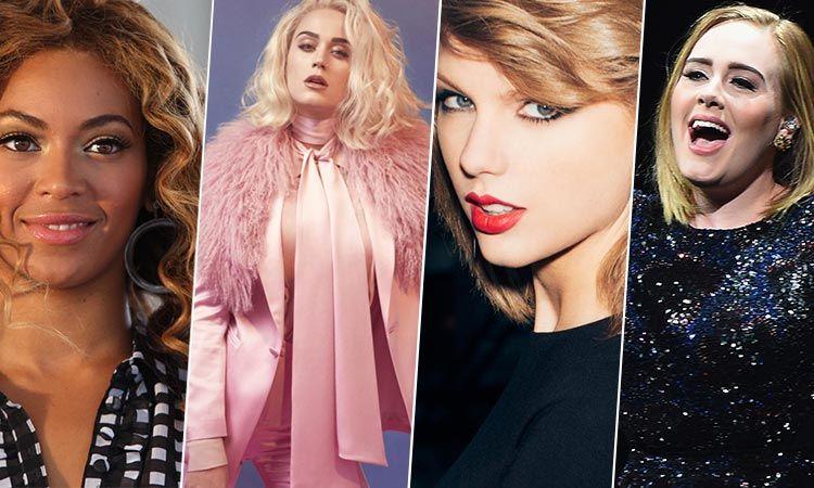 10 อันดับ ศิลปินหญิงที่ทำเงินสูงสุดแห่งปี