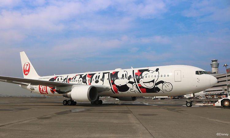 """จองตั๋ว JAL ขึ้นเครื่องบิน """"มิกกี้ เมาส์"""""""