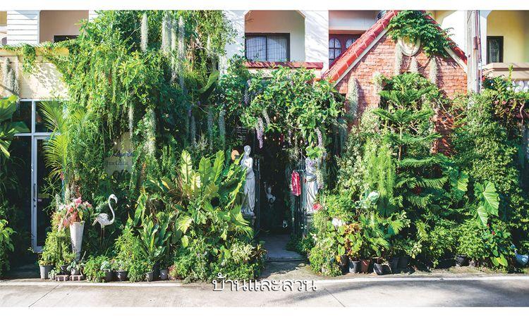 ชื่นชีวาในสวนหน้าบ้าน เปลี่ยนทาวน์เฮ้าส์หลังเก่าให้กลับมามีชีวิต