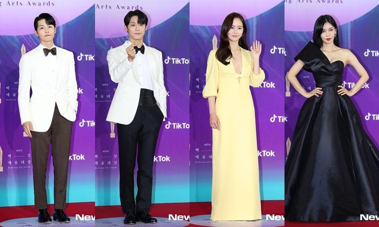 รวมมาให้! ภาพความสวยหล่อซุปตาร์เกาหลีฉบับ HD งาน Baeksang Arts Awards 2021