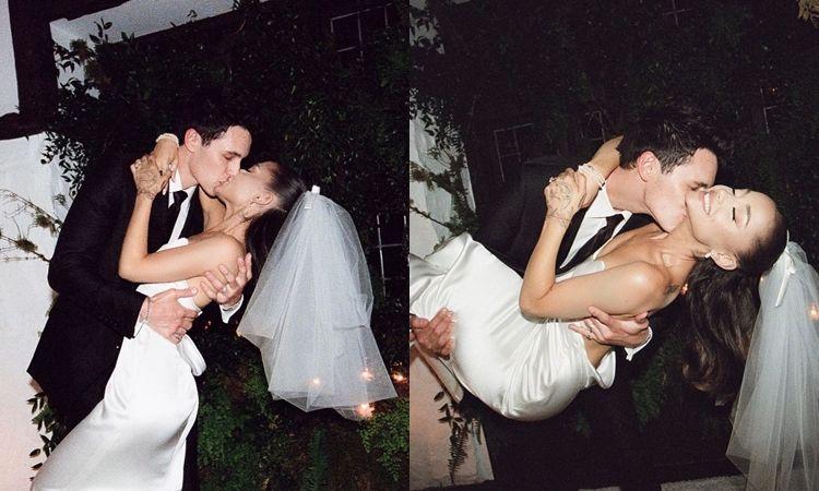 โรแมนติก งดงามมาก! Ariana Grande แชร์ภาพแต่งงานกับแฟนหนุ่มนอกวงการ