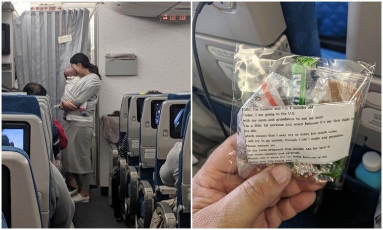 น่ารัก! คุณแม่ชาวเกาหลี เดินแจก เซตป้องกันเสียงเด็ก ให้ผู้โดยสารทุกคนบนเที่ยวบินเดียวกัน