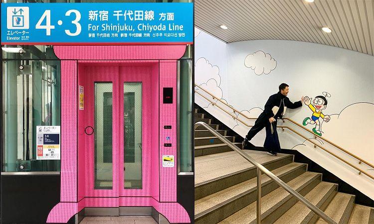 Noborito Station สถานีโดราเอมอน เปิดประตูแล้วไปไหนก็ได้