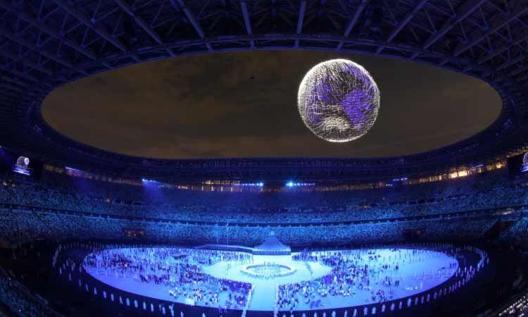 เรียบง่าย งดงาม ตระการตา! ชมภาพบรรยากาศพิธีเปิดโอลิมปิกเกมส์ โตเกียว 2020