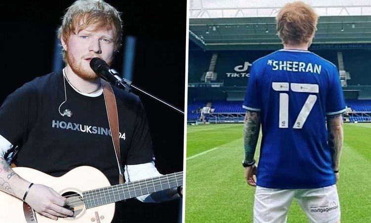 Ed Sheeran สวมเสื้อหมายเลข 17 เปิดตัวเป็นนักเตะใหม่ทีมอิปสวิช