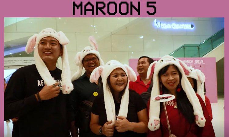 คลิปบรรยากาศคอนเสิร์ต Maroon 5 ขวัญใจแฟนเพลง ทุกเพศ ทุกวัย!