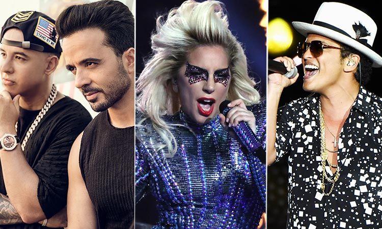 Bruno Mars, Luis Fonsi & Daddy Yankee, Lady Gaga นำทัพศิลปินดังขึ้นโชว์งานแจกรางวัลแกรมมี่