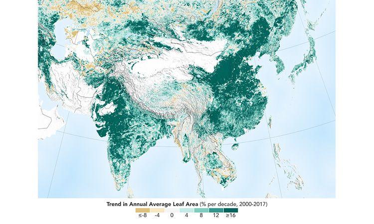 ข่าวดี รับวันสิ่งแวดล้อมโลก NASA เผยโลกมีพื้นที่สีเขียวเข้มขึ้นกว่าเดิม