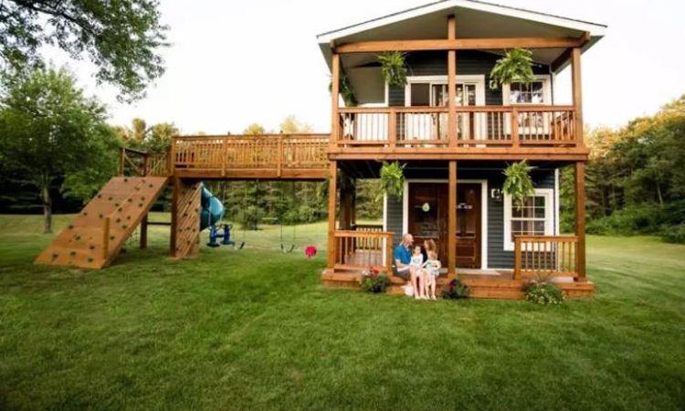 Play House บ้านในฝันแสนน่ารักของคุณพ่อ เนรมิตเพื่อลูกสาวทั้งสองคน