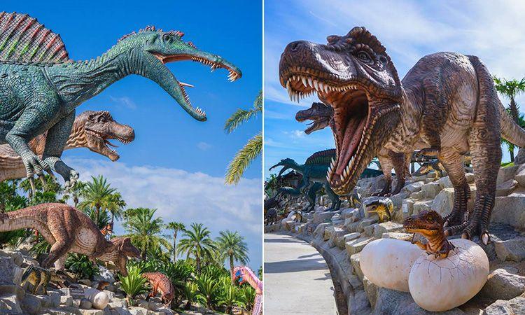 ท่องอาณาจักรโลกล้านปี ที่หุบเขาไดโนเสาร์ สวนนงนุช พัทยา