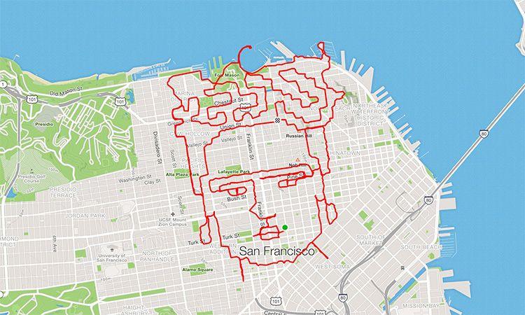 วิ่งธรรมดาโลกไม่จำ! นักวิ่งชาวสหรัฐฯ สร้างผลงานศิลปะจากการวิ่ง